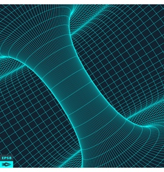 Abstract 3d surface looks like funnel vector