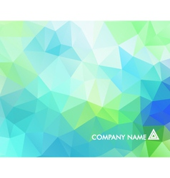 Abstract background with triangular polygons vector image