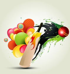 abstract cricket background vector image vector image