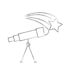 astronomy telescope star study science universe vector image