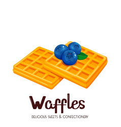 Belgian waffles icon vector