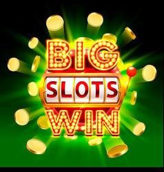 Big win slots 777 banner casino vector