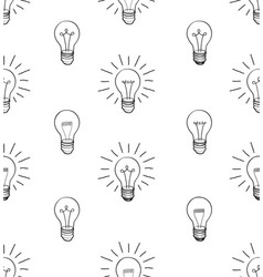 bulb isolated over white background electric lamp vector image