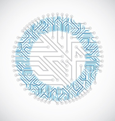 circuit board circle digital technologies vector image vector image