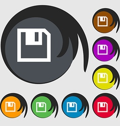Floppy icon flat modern design symbols on eight vector