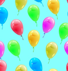 glossy multicolored balloons Seamless wallpaper vector image