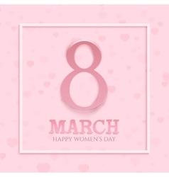 International womens day background vector