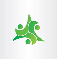kids playing symbol dance teamwork icon vector image