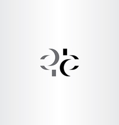 letter e and a stylized logo symbol icon vector image
