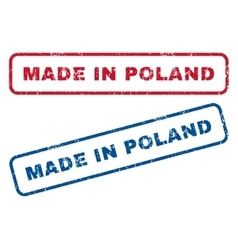 Made in poland rubber stamps vector