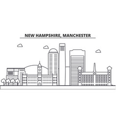 New hampshire manchester architecture line vector