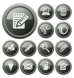 Office buttons vector