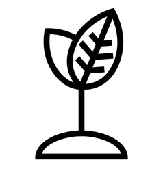 Plant growth icon vector image vector image