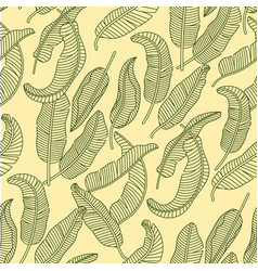seamless pattern with tropical banana vector image