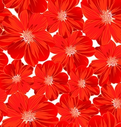 Small red flowers in a seamless pattern vector image vector image
