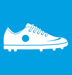 Soccer shoe icon white vector