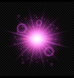 Starburst on dark background vector
