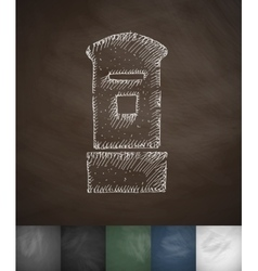 Tower icon hand drawn vector