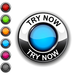 Try now button vector