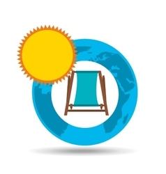 vacation around world sunny beach chair vector image vector image