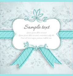 vintage romantic invitation template vector image vector image