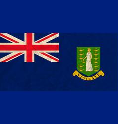 Virgin islands paper flag vector