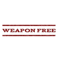 Weapon free watermark stamp vector