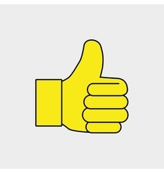 Hand ok thumb finger vector