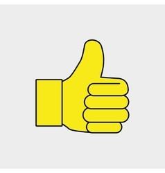 hand ok thumb finger vector image