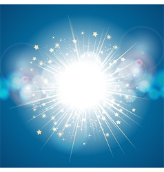 abstract light explosion vector image