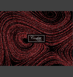 luxury festive background with shiny red glitters vector image