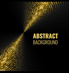 Abstract goldet halftone geometric background vector