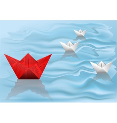 Winner paper ship vector