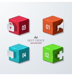 modern cube infographics element design vector image