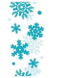 Blue frost snowflakes vertical seamless pattern vector