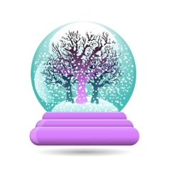 Snow globe with a tree vector
