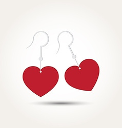 Love heart couple earring vector