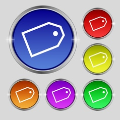 Web stickers icon sign round symbol on bright vector