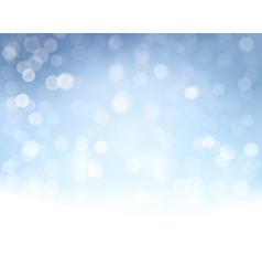 Blue white bokeh background vector image