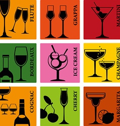 Alcoholdrinks vector