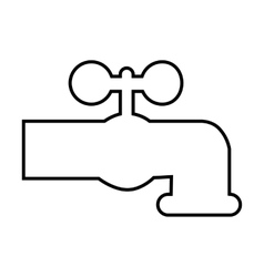 The water faucet line icon vector