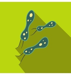 Rod-shaped virus flat icon vector