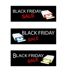 Disk drive on black friday sale banners vector