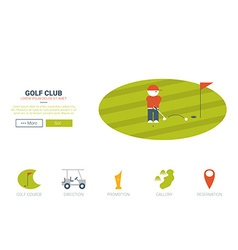 Golf club website concept vector image
