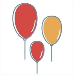 Ballon line icons vector image vector image