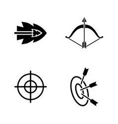 Bows and arrows simple related icons vector