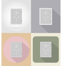 business and finance flat icons 13 vector image
