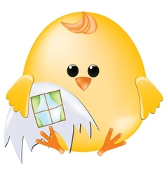 Chick with house vector image