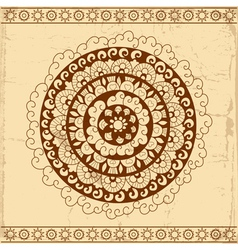 Decorative circle card background vector