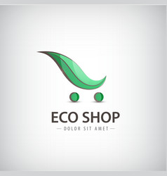 Eco bio products organic food logo sign vector